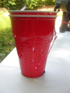 Red Solo cup I shot from 50 yards with Little-Daddy