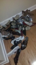 And the pile of shoes at the end of the week