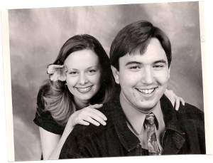 Promo radio shot with my then morning partner. Age 27