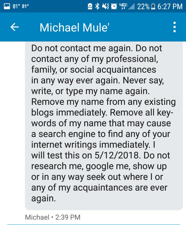 Michael Mule', Michael A Mule', Michael Mule, Michael Mule'